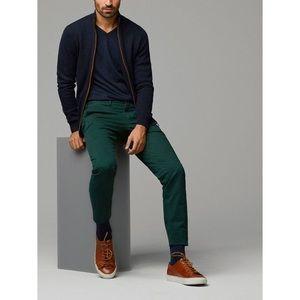 NEW massimo dutti mens dark green jeans